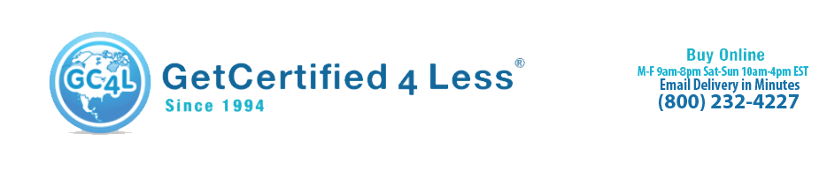Get Certified 4 Less Logo