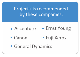 Project + recommended by these companies