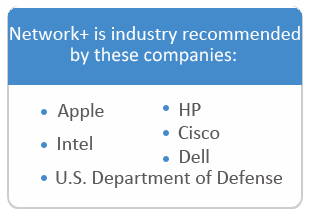 Companies that recommend network certification